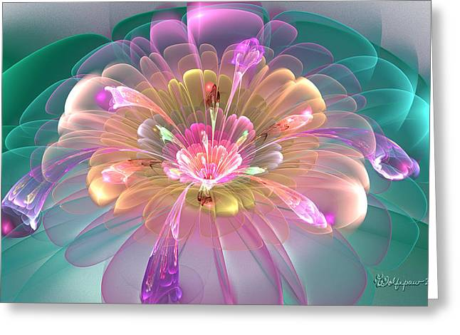 Spring Bloom Greeting Card by Peggi Wolfe