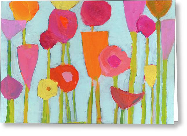 Spring Blooms Greeting Card by Laurie Breen