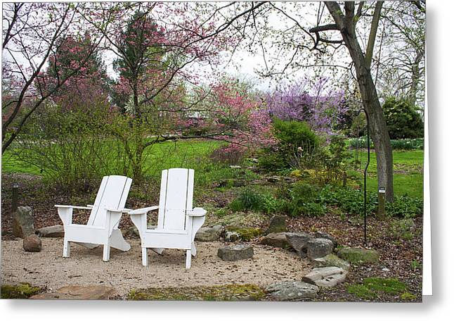 Lawn Chair Greeting Cards - Spring Blooms Greeting Card by Ron Grafe