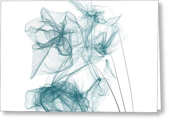 Light Blue Gray Greeting Cards - Spring Blues Greeting Card by Lourry Legarde