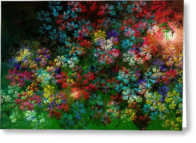 Recently Sold -  - Abstract Digital Paintings Greeting Cards - Spring Bouquet Greeting Card by Adam Vance