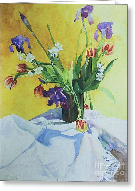 Spring Bouquet Greeting Card by Elizabeth Carr