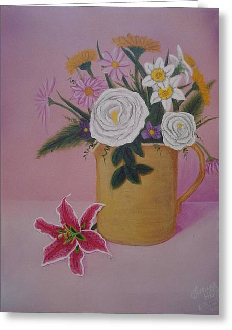 Best Sellers -  - Day Lilly Greeting Cards - Spring Bouquet Greeting Card by Tonya Hoffe