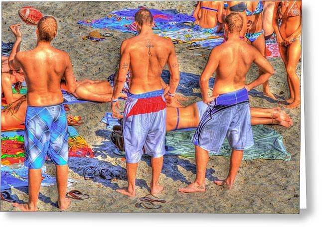 Beach Towel Greeting Cards - Spring Break Greeting Card by Debra and Dave Vanderlaan