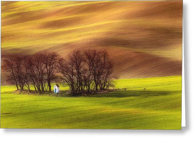 Spring Chapel Greeting Card by Piotr Krol (bax)