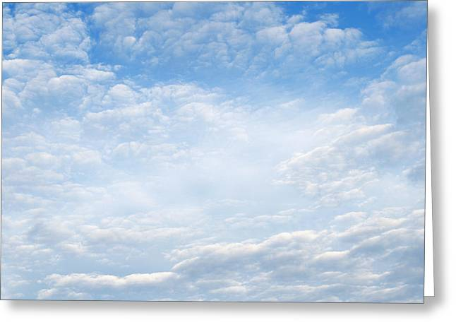 Air Greeting Cards - Spring clouds Greeting Card by Les Cunliffe