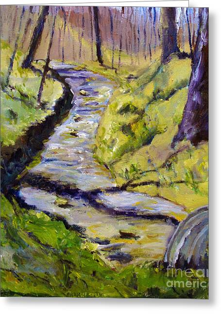 Pissaro Greeting Cards - Spring Creek Run Greeting Card by Charlie Spear