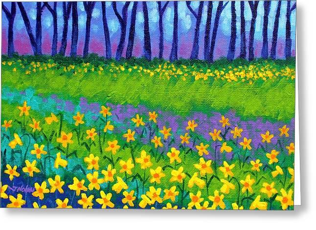 Spring Daffodils Greeting Card by John  Nolan