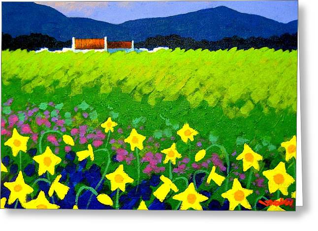 Mountain Greeting Cards Greeting Cards - Spring Daffs Ireland Greeting Card by John  Nolan