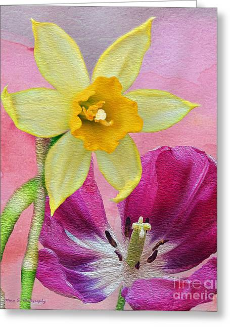 Spring Delights Greeting Card by Nina Silver