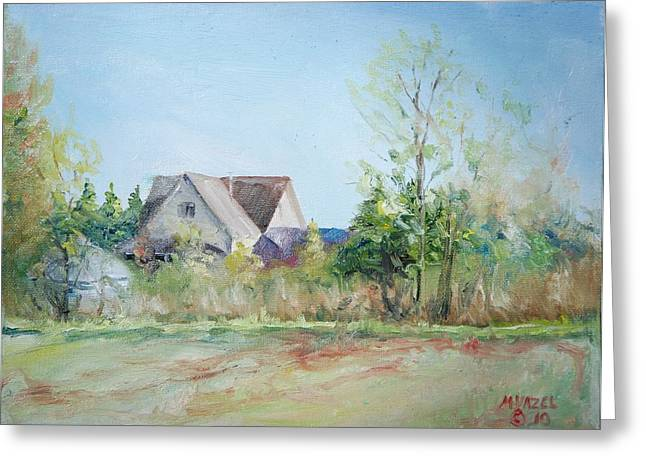 Indiana Springs Paintings Greeting Cards - Spring Evening Greeting Card by Mike Yazel
