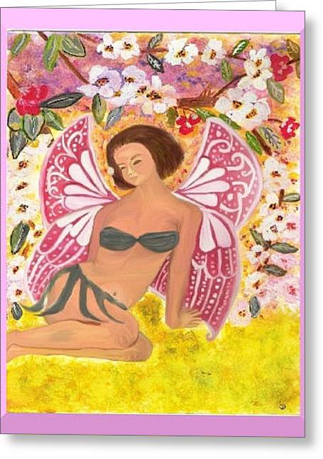 Fineart Pastels Greeting Cards - Spring Fairy Greeting Card by Angela Anchor