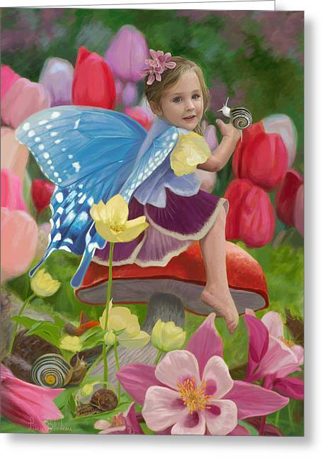 Spring Fairy Greeting Card by Lucie Bilodeau