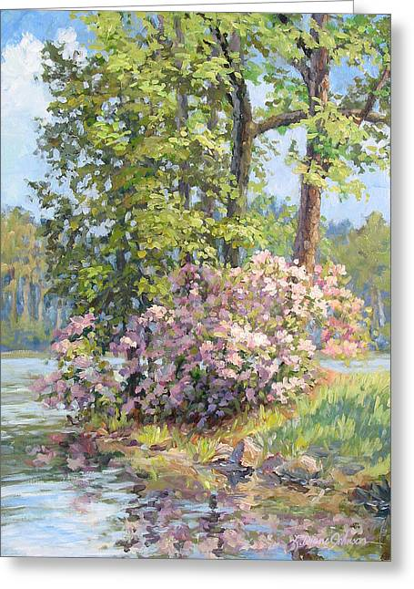 Rhodendron Greeting Cards - Spring Festival Greeting Card by L Diane Johnson
