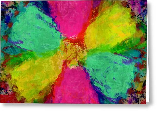 Spring Floral Greeting Card by Susan Leggett