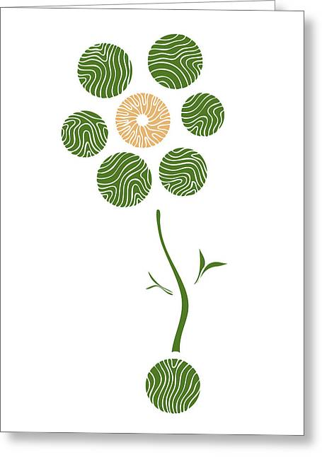 Fresh Green Drawings Greeting Cards - Spring Flower Greeting Card by Frank Tschakert