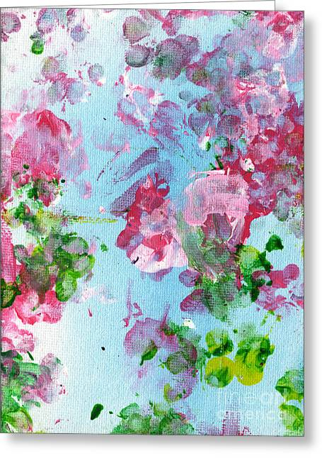 Expressionist Greeting Cards - Spring Flowers Greeting Card by Antony Galbraith