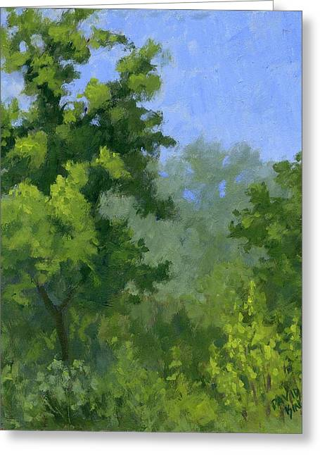 Impressionist Greeting Cards - Spring Foliage Greeting Card by David King