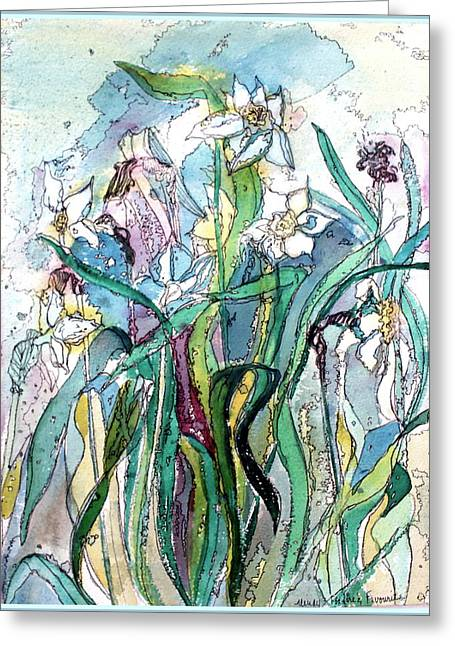March Greeting Cards - Spring Frenzy Greeting Card by Mindy Newman