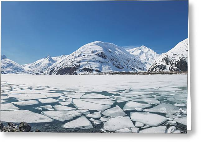 Reflections Of Sky In Water Greeting Cards - Spring Ice Breaking Apart Greeting Card by Kevin Smith