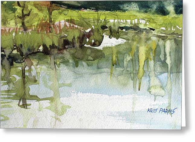 Spring Impression Greeting Card by Kris Parins