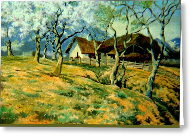 Sheds Greeting Cards - Spring in Poland Greeting Card by Henryk Gorecki