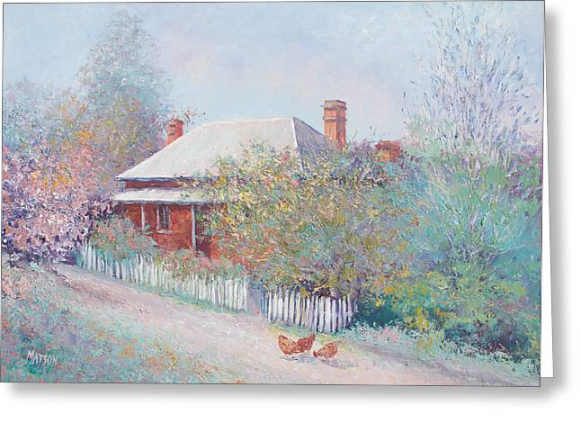 Old Farmhouse Prints Greeting Cards - Spring in the country Greeting Card by Jan Matson