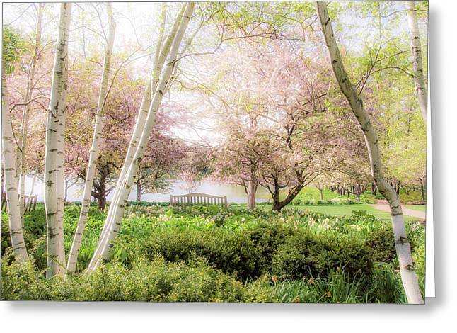Spring In The Garden Greeting Card by Julie Palencia