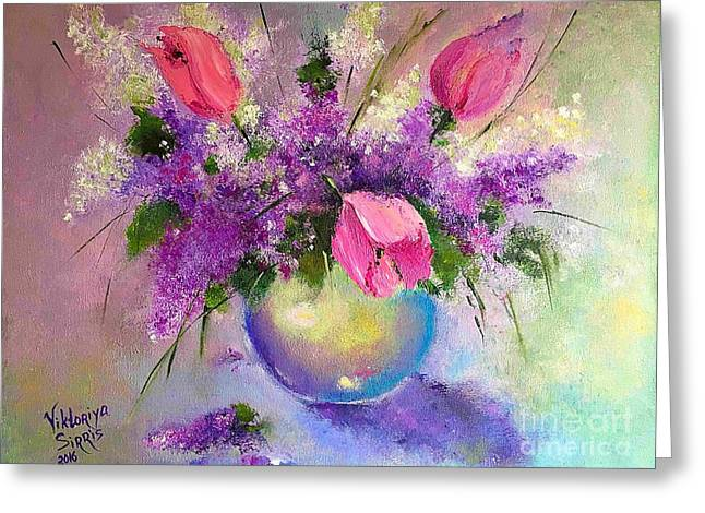 Spring Is Beautiful Greeting Card by Viktoriya Sirris