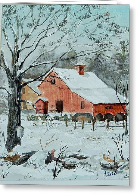Maine Spring Paintings Greeting Cards - Spring Is Coming Greeting Card by Jim Decker