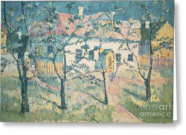 Park Scene Greeting Cards - Spring Greeting Card by Kazimir Severinovich Malevich
