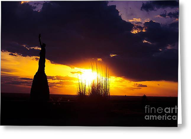 Scenic Drive Greeting Cards - Spring Lady Liberty in Kansas Greeting Card by Marty Kugler