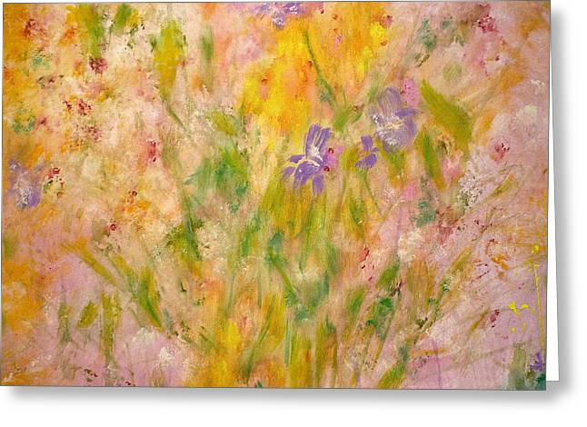Claire Bull Greeting Cards - Spring Meadow Greeting Card by Claire Bull