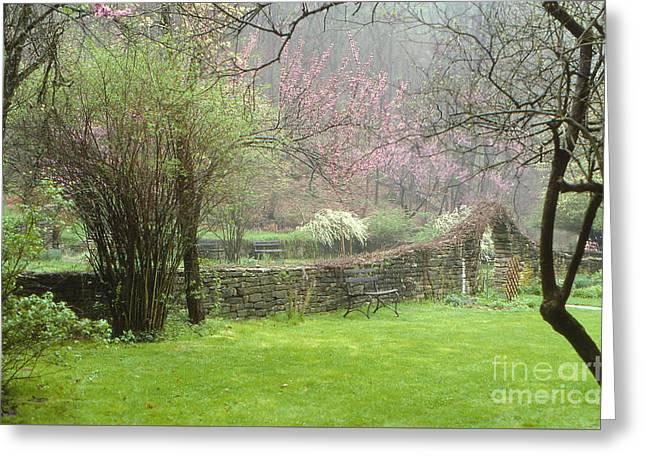 Southern Indiana Photographs Photographs Greeting Cards - Spring Mill Spring Greeting Card by Lowell Anderson