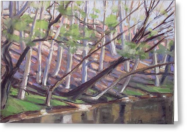 Spring, Monocacy Creek Greeting Card by Grace Keown