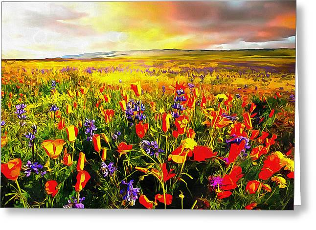 Anthony J. Caruso Greeting Cards - Spring Morning Greeting Card by Anthony Caruso