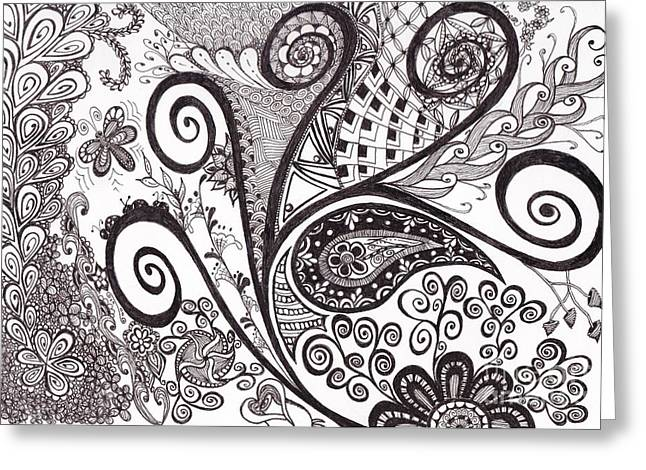 Pen And Paper Greeting Cards - Spring Greeting Card by Nicole Johnson