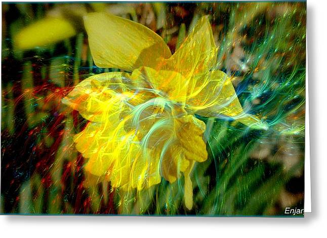 Spring Of Soul. Greeting Card by Enjargo Art