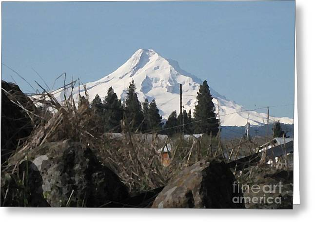 Mountain Valley Greeting Cards - Spring on the Mountain Greeting Card by Sandy Hawke