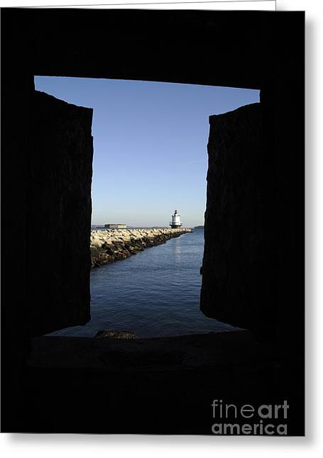 Landscap Greeting Cards - Spring Point Ledge Light - Portland Mane USA Greeting Card by Erin Paul Donovan