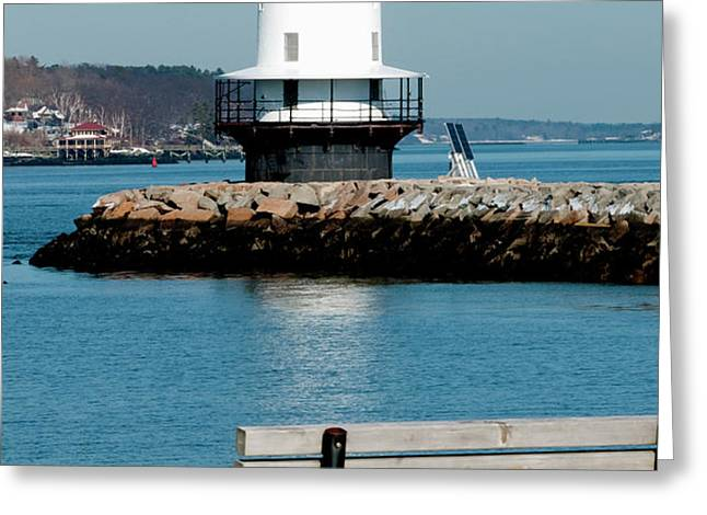 Spring Point Ledge Lighthouse Greeting Card by Greg Fortier