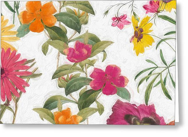 Painted Flowers Greeting Cards - Spring Promise I Greeting Card by Mindy Sommers