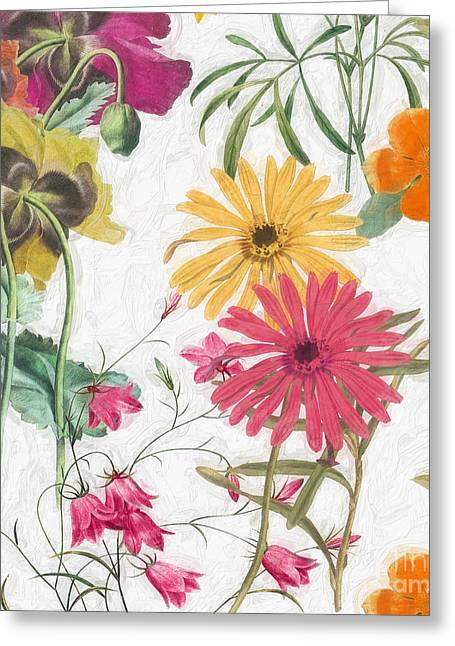Painted Flowers Greeting Cards - Spring Promise II Greeting Card by Mindy Sommers