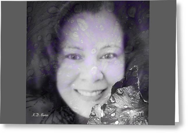 Spring Raindrop Maiden Greeting Card by Kimberlee Baxter
