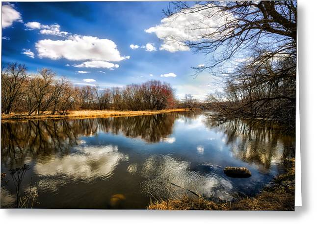 Spring Reflection - Wisconsin Landscape Greeting Card by Jennifer Rondinelli Reilly