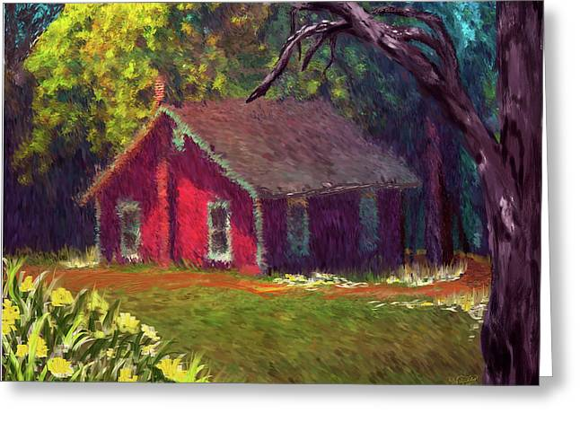 Shed Paintings Greeting Cards - Spring Shed Greeting Card by Darlene Bell