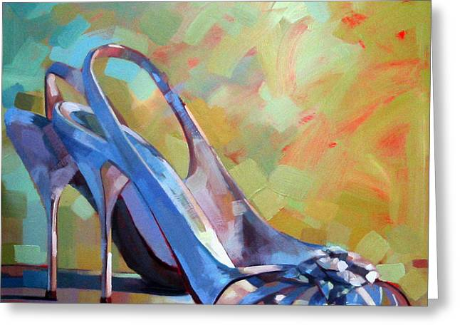 Website Greeting Cards - Spring Shoes Greeting Card by Penelope Moore