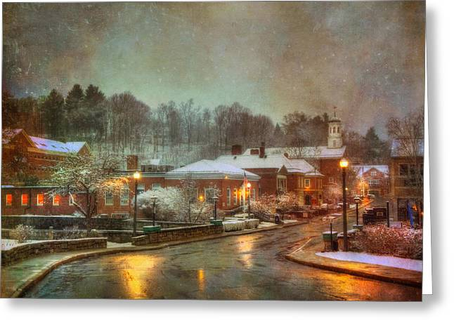 Spring Snow In Peterborough Nh Greeting Card by Joann Vitali