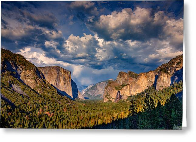 Spring Storm Over Yosemite Greeting Card by Rick Berk