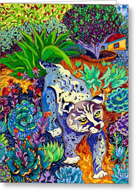 Bobcats Greeting Cards - Spring Stride Greeting Card by Cathy Carey